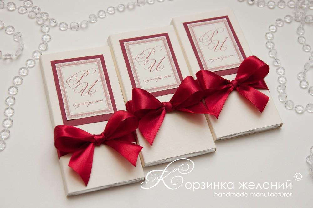 Шоколад в подарок гостям на свадьбу 58